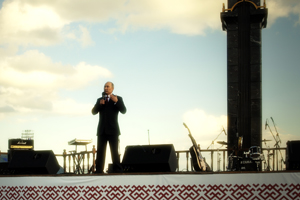 Vladimir Putin gave a speech in Saransk