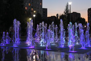 The discovery of the fountain KRESTIKI NOLIKI in Himki.
